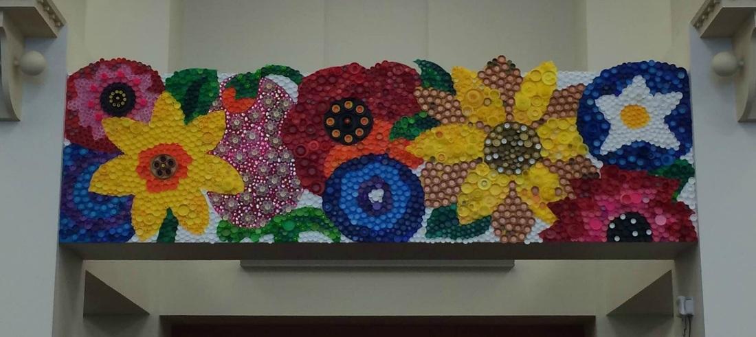 Bottle Cap Mural! Awesome. - Mrs. T's Art Room